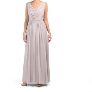 Lux V-Neck Chiffon Gown Size 2 NWT